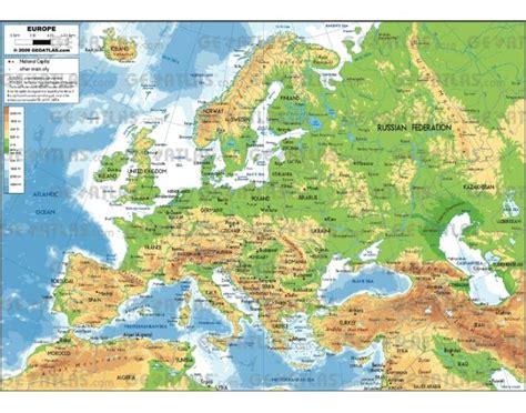 Európa vízrajz, hegyek