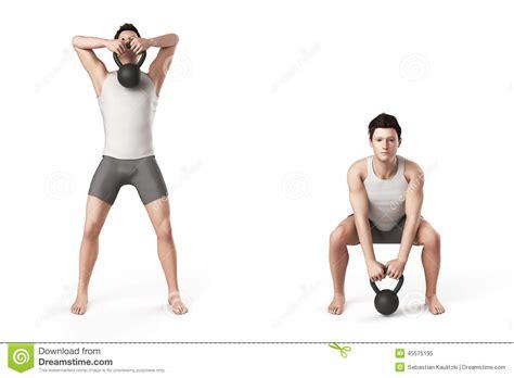 kettlebell exercise pull illustration sport preview