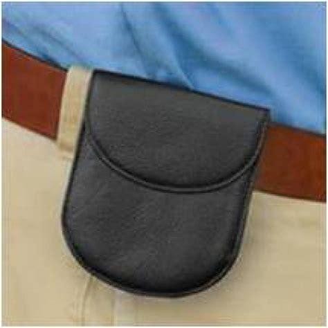 porte monnaie de ceinture cuir de vachette noir bouton