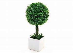 Boule De Buis : boule de buis artificiel pot c ramique blanc hauteur 38 cm ~ Melissatoandfro.com Idées de Décoration