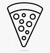 Pizza Coloring Pepperoni Clipart Dibujar Dibujos Template Clipartkey Facil Pngitem Transparent sketch template