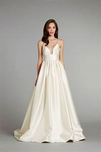 Simple ivory wedding dress with a line silhouette sang for Simple dresses to wear to a wedding