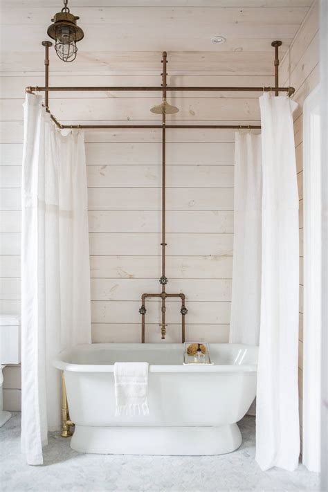 Tub Curtain by A Diy Shower Curtain Hoop Made From Brass Pipes By Zio Sons