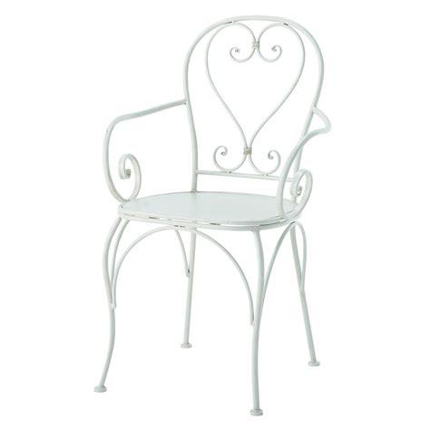 fauteuil de jardin en fer forg 233 ivoire st germain maisons du monde