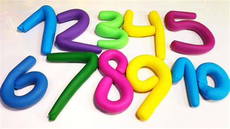 Learn Numbers From 1 2 3 4 5 6 7 8 9 10 With Play Doh For