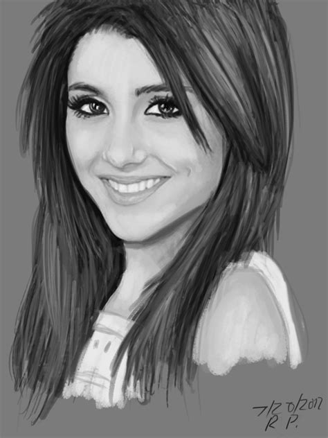 Ariana Pencil Drawing  Sketches With Pencil's  Pinterest