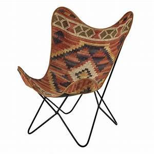 Maison Du Kilim : fauteuil en kilim multicolore kilim maisons du monde ~ Zukunftsfamilie.com Idées de Décoration