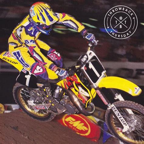 Dirt Bike Racing Pictures Tbt To 1995 With Damon Huffman Axoracing Throwbackthursday Throw Back Thursday Pinterest