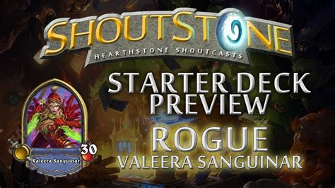 Hearthstone Starter Decks Rogue by Hearthstone Starter Deck Series Rogue Valeera Sanguinar