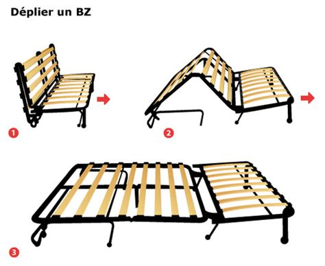 montage canapé bz canapé bz méthode de pliage dépliage et prix