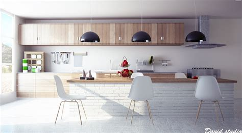 Kitchen Design With Island Layout - unexpected twists for modern kitchens