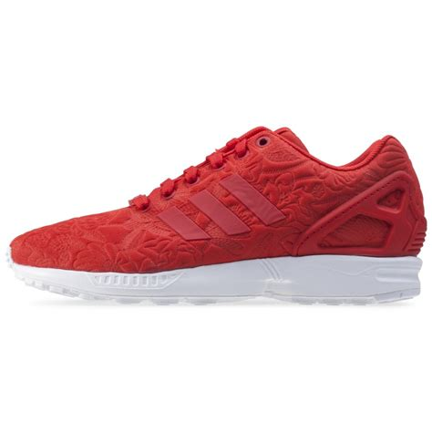 adidas zx flux  womens trainers  red
