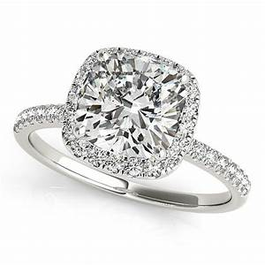 Moissanite Engagement Ring Cushion Cut Engagement Ring