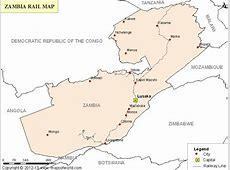 Zambia Rail Map