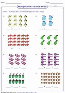Arrays Multiplication Sentence Worksheet With Answer Key