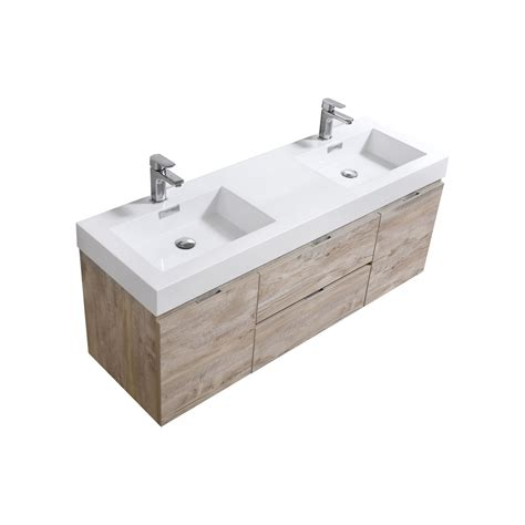 wall mount bathroom vanity sink bliss 60 quot nature wood wall mount double sink modern