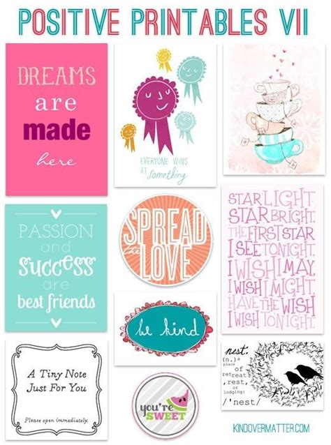 positive printables perfect   notes  child