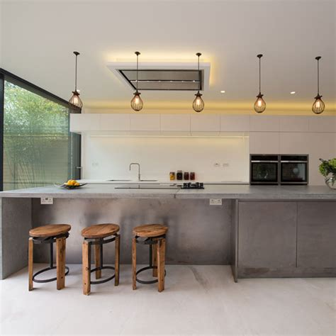 concrete island kitchen create an industrial style kitchen with concrete ideal home 2424