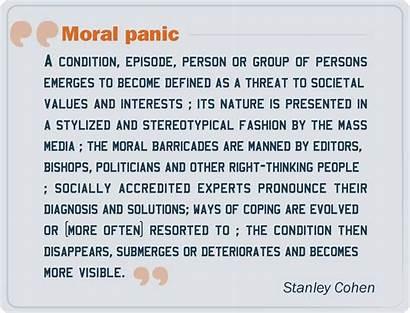 Panic Moral Definition Cohen Stanley Again Eric
