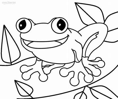 Coloring Pages Toad Frog Printable Paper Sketch