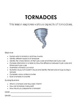 tornadoes tornado worksheets for 2nd grade science