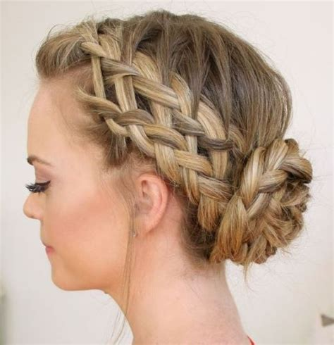 15 cute braided bun hairstyles