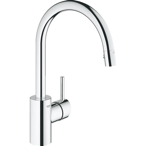 Kitchen Faucet Grohe by Grohe 32665001 Concetto Polished Chrome Pullout Spray