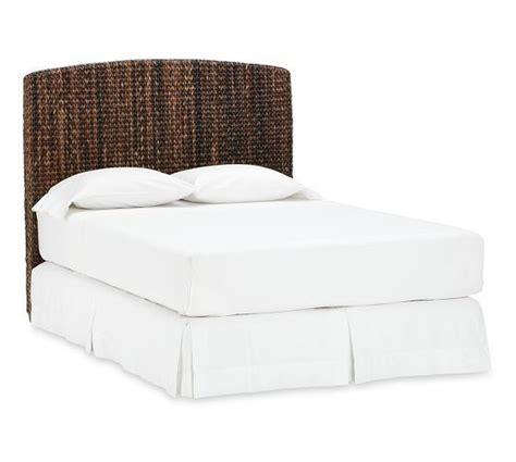 seagrass headboard pottery barn seagrass bed headboard