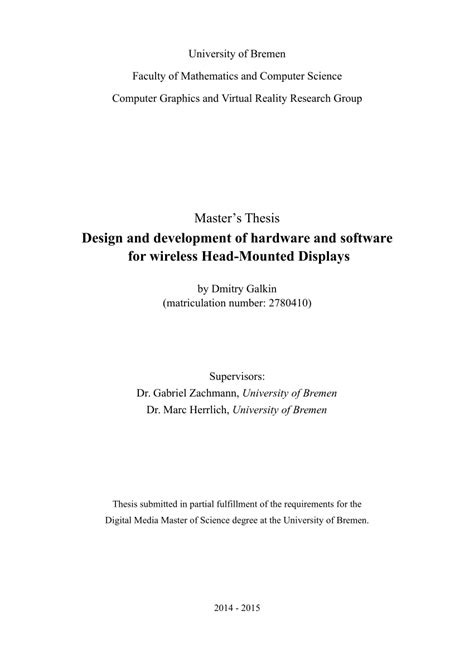 (PDF) Master's Thesis: Design and development of hardware