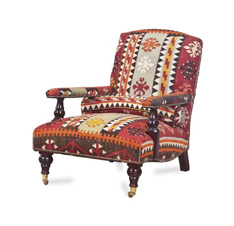 George Smith Armchair by An Kilim Upholstered Armchair By George Smith