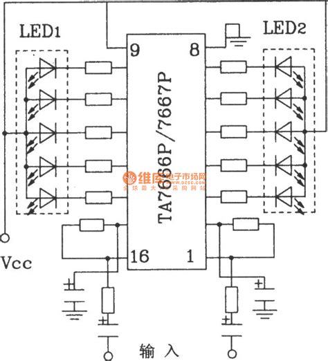 Two Led Display Driver Circuits With Hap Tap