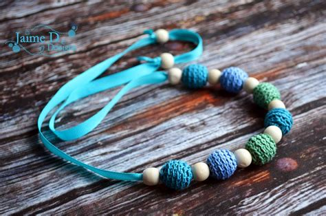 Jaime D Designs Crocheted Teething Necklace