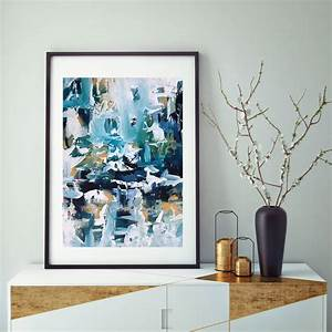 Blue, Abstract, Art, Contemporary, Modern, Framed, Art, By, Abstract, House