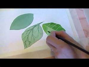 Three Techniques for Painting Leaves in Watercolor - YouTube