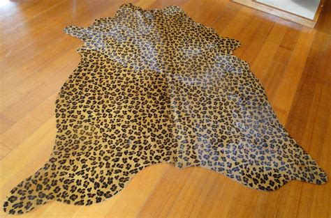 Leopard Print Cowhide Rug  Best Decor Things