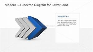 Horizontal Chevron Process Chart Diagram