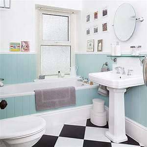 White bathroom with duck egg blue panelling decorating for Can eggshell paint be used in a bathroom