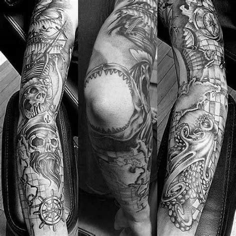 24+ Underwater Tattoo Sleeve Black And White