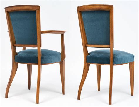 deco set of cherrywood dining room chairs for