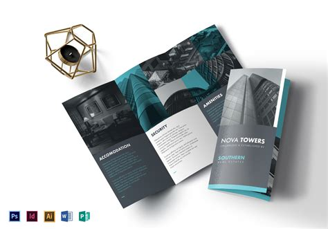 Real Estate Brochure Design Templates Real Estate Tri Fold Brochure Design Template In Psd Word