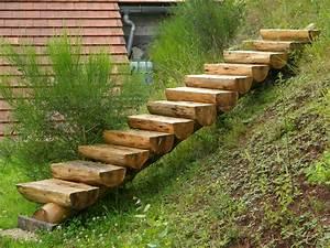 des idees d39escalier en bois pour le jardin bricobistro With jardin en pente que faire 7 quels escaliers pour le jardin