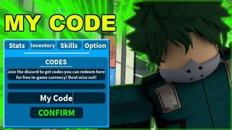 roblox boku  hero academia codes strucidcodescom