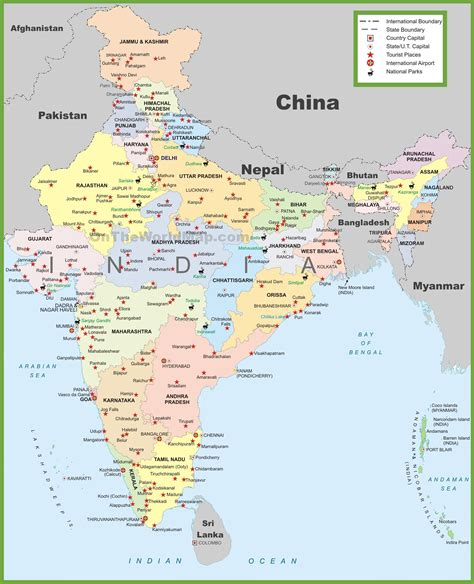 printable maps  india  travel information