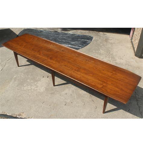 "70"" Long Vintage Walnut Coffee Table Ebay"