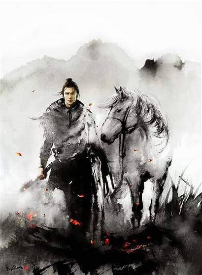Samurai Wuxia Ink Jungshan Magazine Chinese Illustrations