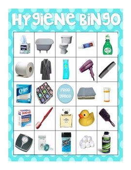 hygiene  bathroom item photo bingo  rachel lynn tpt