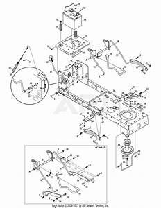 Mtd 13al795t057  2010  Parts Diagram For Frame  Pto  U0026 Lift