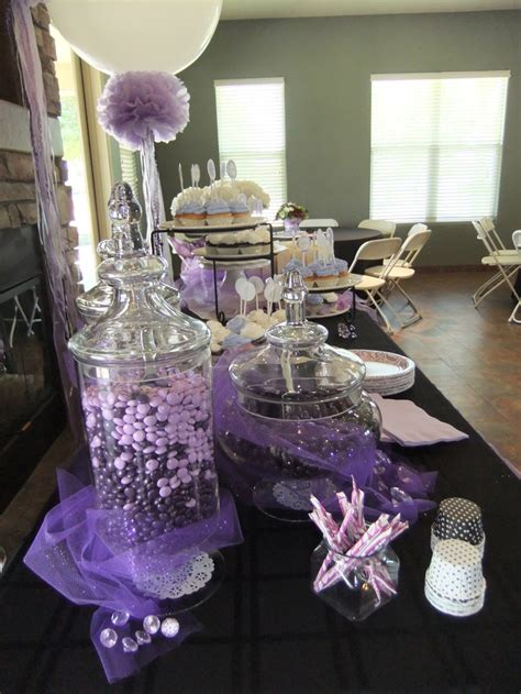lavender bridal shower candy jars crafty ideas