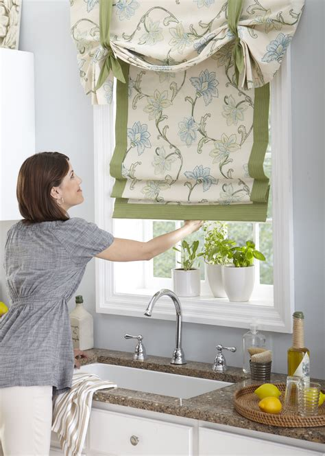 Drapes In Kitchen - horizons fabric shades custom made from our