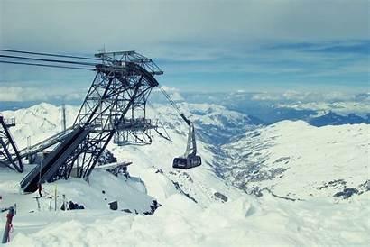 Ski Mountains Lift Winter Skiing Construction France